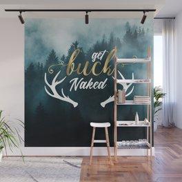 Get Buck Naked Bathroom Curtain Wall Mural