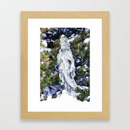 Quan Yin in Winter Framed Art Print