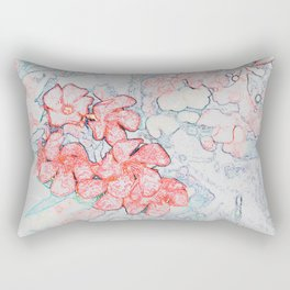 Spring Red Flowers Rectangular Pillow