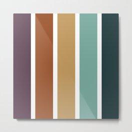 Stripes Pattern No.14 Metal Print