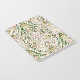 Green Pink Leaf Flower Paisley Notebook