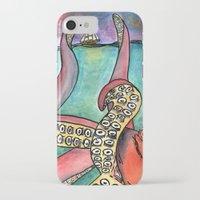 kraken iPhone & iPod Cases featuring Kraken by Indigo22