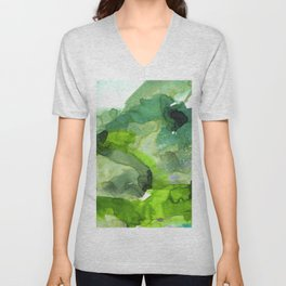 Vellum Watercolor Bliss 3B by Kathy Morton Stanion Unisex V-Neck