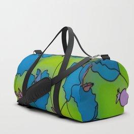 Neon Floral Composition Duffle Bag