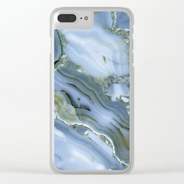 Blue Wealth Clear iPhone Case