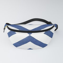 Geometrical modern navy blue watercolor abstract pattern Fanny Pack