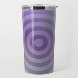 Metallic purple concentric circles Travel Mug