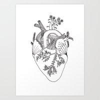 Growing heart Art Print