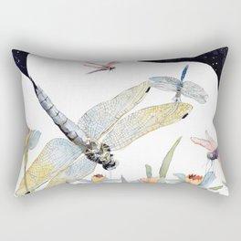 Good Night Surreal Dragonfly Artwork Rectangular Pillow