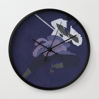 sasuke Wall Clocks featuring Sasuke by JHTY