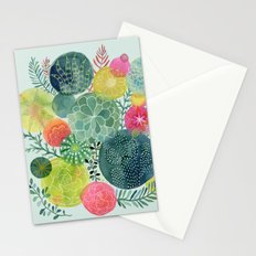 Succulent Circles Stationery Cards
