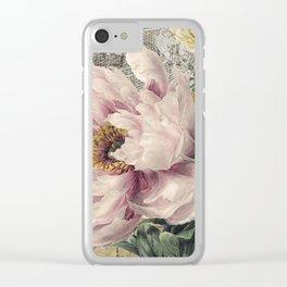 Paris Peony Clear iPhone Case