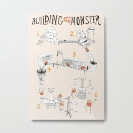 Building a Monster Metal Print