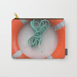 Orange Life Ring Carry-All Pouch