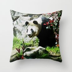 Panda Smile Throw Pillow