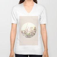 magnolia V-neck T-shirts featuring Magnolia by Roman Bratschi