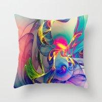 karen Throw Pillows featuring Sunrise by Klara Acel
