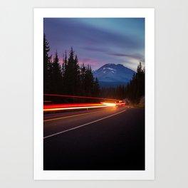 Curvy Mountain Road Art Print