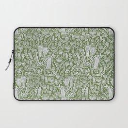 Green Folk Florals Laptop Sleeve
