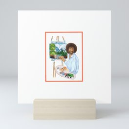 Bob ross Mini Art Print