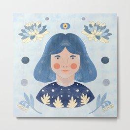 blue eye Metal Print