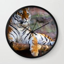 Regal Tiger Wall Clock