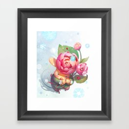 The Sound of Snow falling Framed Art Print