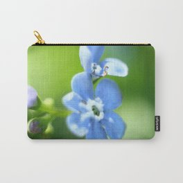 Forget-me-not closeup with blurred focus and shallow depth of field. Carry-All Pouch