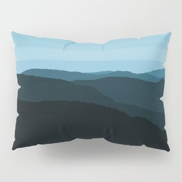 Blue Mountainscape Pillow Sham