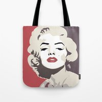 marylin monroe Tote Bags featuring Marylin Monroe by Creativehelper