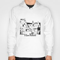 greek Hoodies featuring Greek Island by KostasK