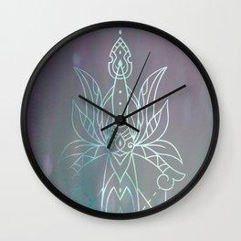 Lotus Dagger Mandala Wall Clock