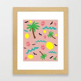 Beachy Keen By the Sea Framed Art Print