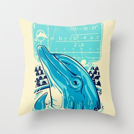Aquatic problem Throw Pillow