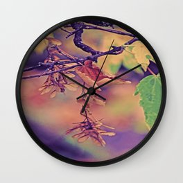 Hanging Noses in autumn light Wall Clock