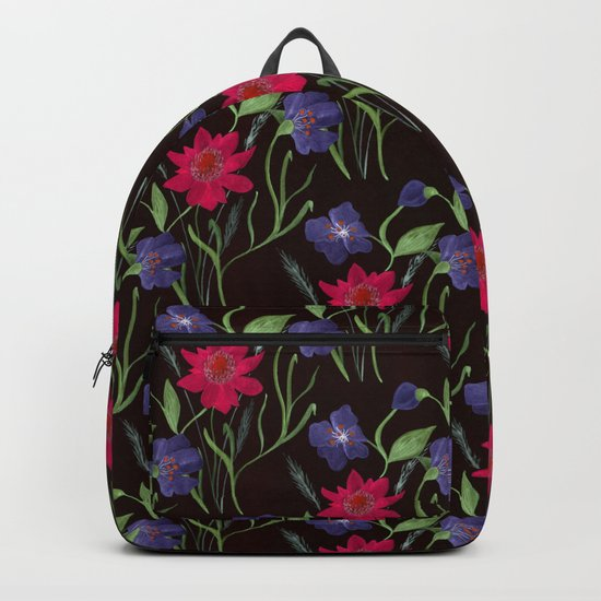 Bright floral pattern.2 Backpack