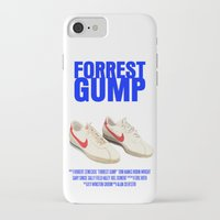 forrest gump iPhone & iPod Cases featuring Forrest Gump Movie Poster by FunnyFaceArt