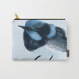 Blue Wren Carry-All Pouch