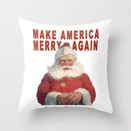 MAKE AMERICA MERRY AGAIN Throw Pillow