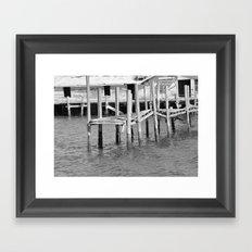 Old Dock Framed Art Print
