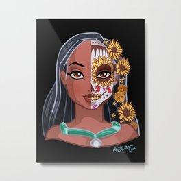 Sugar Skull Series: Little Mischief Metal Print