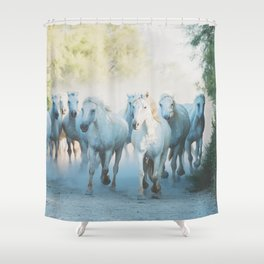Camargue Horses ... Shower Curtain