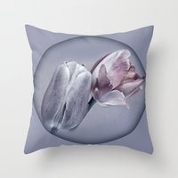 silver Throw Pillows featuring SILVER by INA FineArt