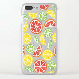 Vitamin C Super Boost - Citric Fruits on Peach Clear iPhone Case