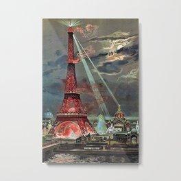 The Eiffel Tower, Paris, France by Georges Garen Metal Print