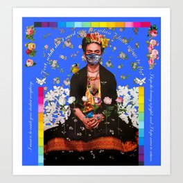 Frida Blue Wings to Fly 2020 Art Print