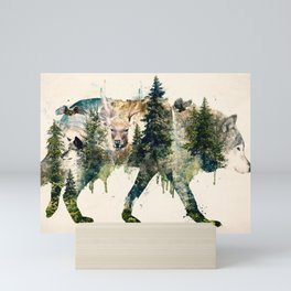 Wolf is the Pride of Nature Mini Art Print