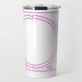 Neon Turntable 2 - 3D Art Travel Mug