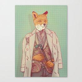 Jay the Fox Canvas Print