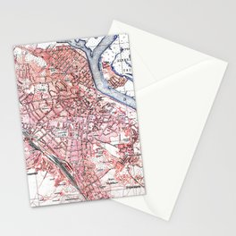 Vintage Map of Kiev Ukraine (1918) Stationery Cards